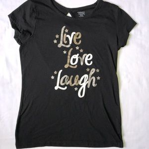 Live love and Laugh Black shirt